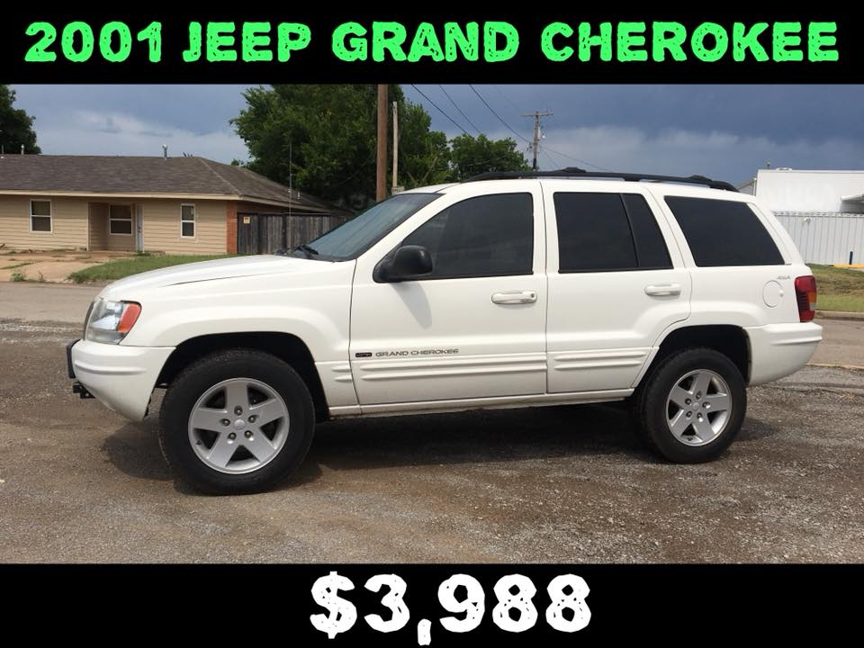 2001 Jeep Grand Cherokee 4WD  $3,988