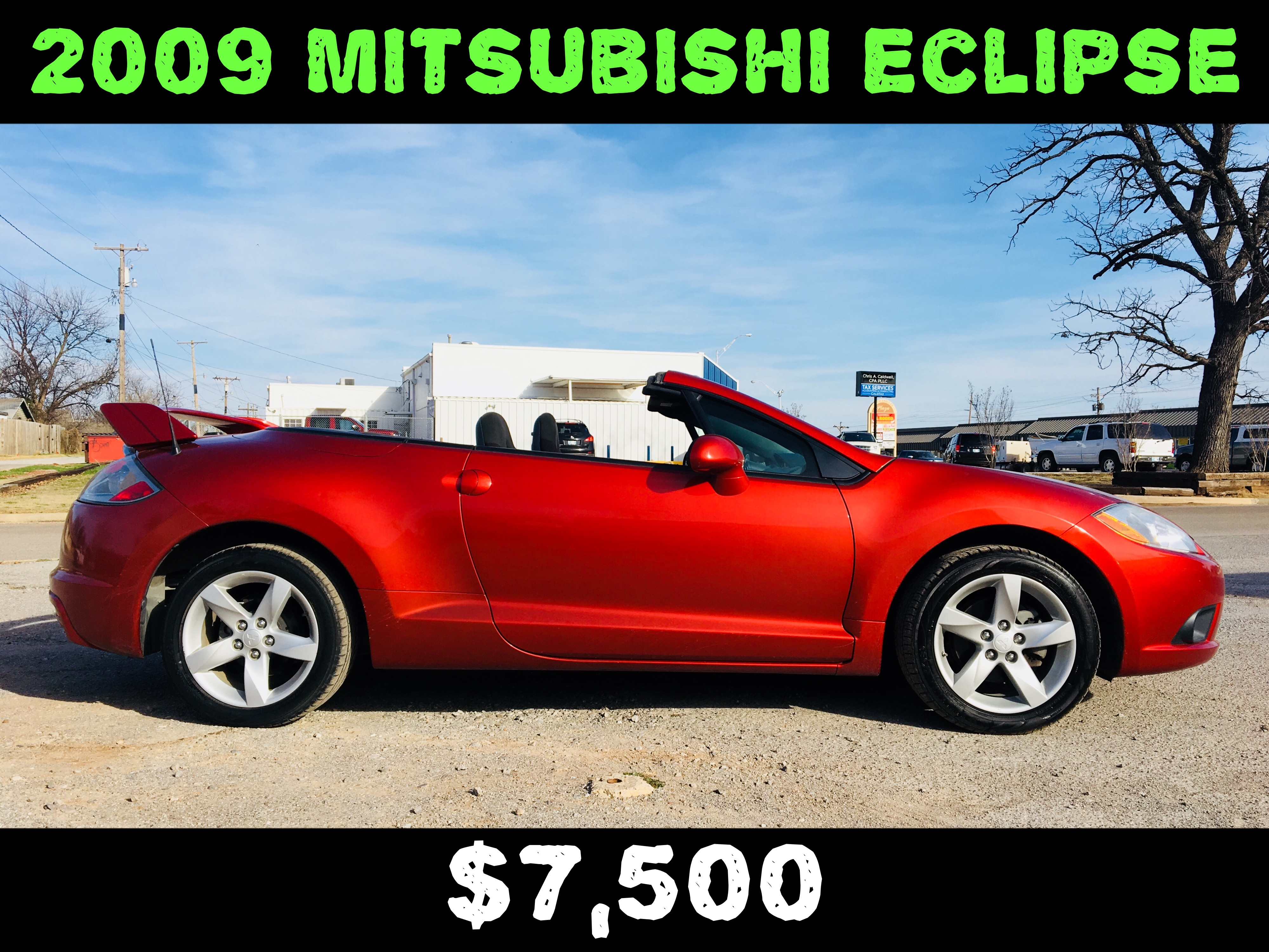 2009 Mitsubishi Eclipse Spyder  $7,500