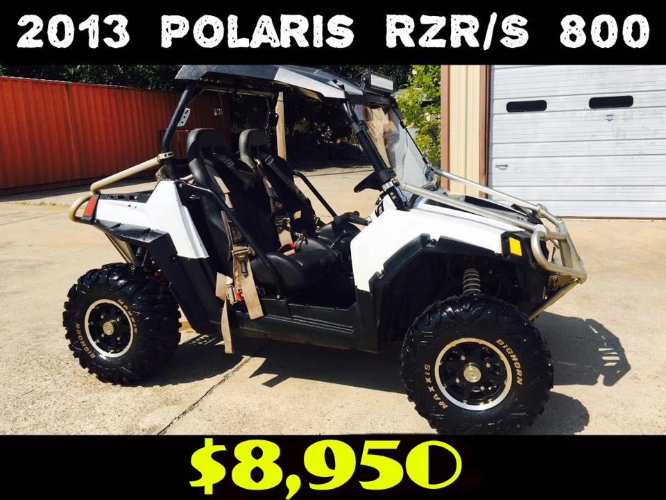 2013 Polaris Rzr  $8,950