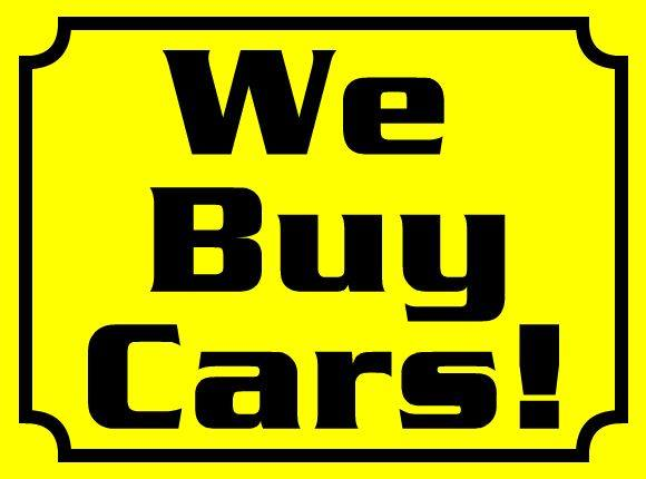 WE BUY CARS!